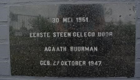 First foundation stone, Kampen (NL), 1961