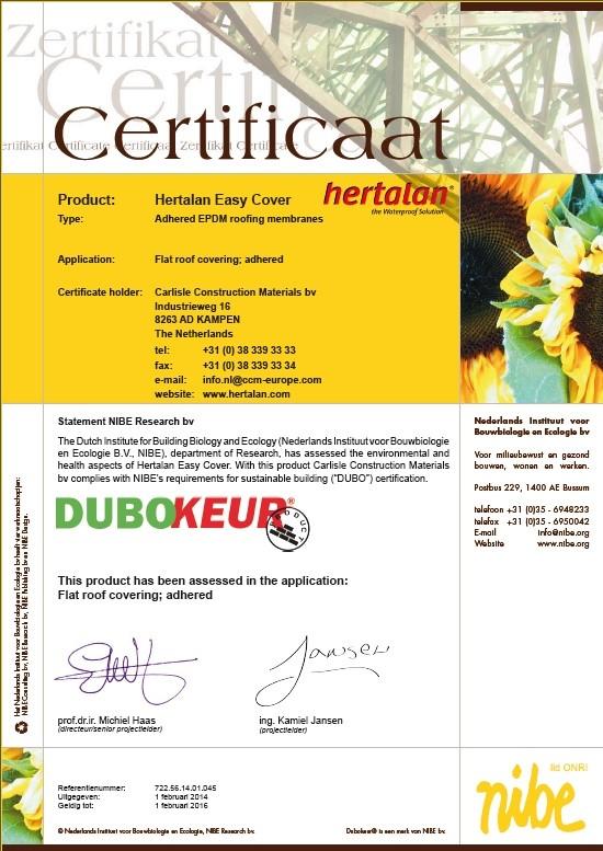 HERTALAN® | DUBOkeur accreditation